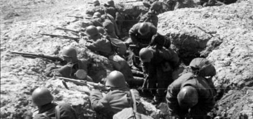 Советские солдаты на позициях
